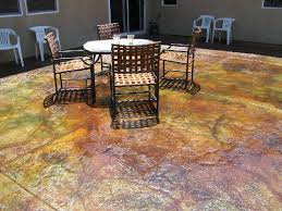 acid staining outdoor concrete stained concrete slab patio patina acid stain brothers colors grey stained concrete