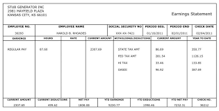 Free Blank Pay Stub Template Friendsmh Info