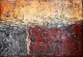 custom made 36x24 original modern textured contemporary abstract painting by alisha red day dawning