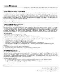 Collection Of Solutions Medical Device Sales Representative Resume