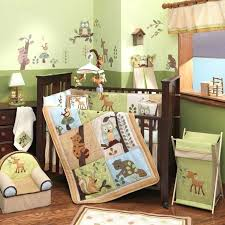 jungle theme crib bedding sets enchanted forest 5 piece baby crib bedding set by lambs ivy