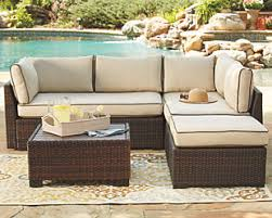 outdoor furniture. Modren Furniture Large Loughran 4piece Outdoor Sectional Set  Rollover To Furniture