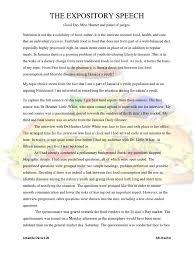 communication studies ia speech final questionnaire foods
