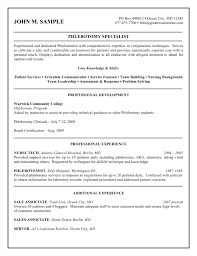 Phlebotomy Resumes Free Resume Example And Writing Download