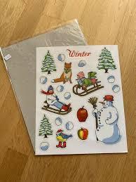 Krima Isa Fensterbilder Ablösbar Weihnachten Winter Fensterdeko