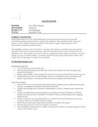 Resume For Office Manager Position Office Manager Job Description Template Syncla Co