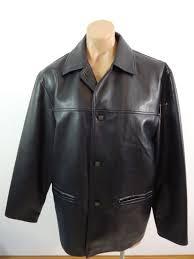 collezione reporter rdg milano mens black faux leather lined jacket size l