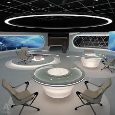 tv studio furniture. Virtual Tv Studio News Set 3d Model Furniture