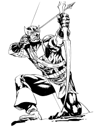 Small Picture Classic Hawkeye Comic Book Coloring Page H M Coloring Pages