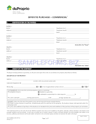 Preview Pdf Quebec Offer To Purchase Commercial Form 7