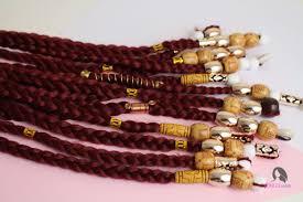 large hair beads and box braids