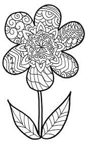 Mandala Met Simpel Bloemornament Kleurplaat Gratis Kleurplaten 40