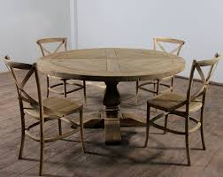 Distressed Wood Kitchen Table Unique Distressed Round Dining Table In Elegant Look