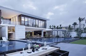 outdoor living space and modern home modern house design