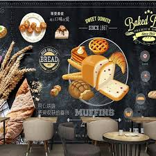 Us 380 Free Shipping Custom Wallpapers Vintage Food Baking Shop Bakery Background Wall Design Wallpaper Wall Murals In Wallpapers From Home