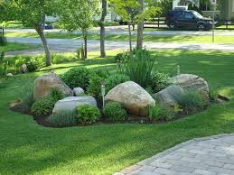 Small Picture Front Rock Garden Great Yard Ideas rock garden ideas