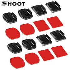 SHOOT <b>Flat Curved</b> Base Mount and Adhesive Stickers Mount for ...