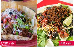1 000 calorie salads qdoba taco salad bowl