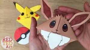 easy eevee diy pokemon bookmark corners origami inspired pokemon go