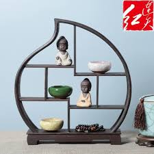 Wooden Display Stands For Figurines Shape Of Peach Wooden Display Stand Rosewood Figurines 6