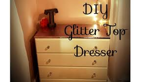 Image Furniture Mirrored Youtube Diy Glitter Dresser Top Furniture Makeover To Match My Glitter Glam Wallquickeasycheap