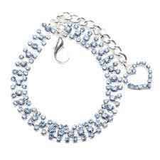 Designer Pet Jewelry Dog Cat Collar With Crystal Heart Designer Diamond Pet