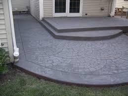 stamped concrete raised patio patio deck and screen porch ideas pinterest backyard66 backyard