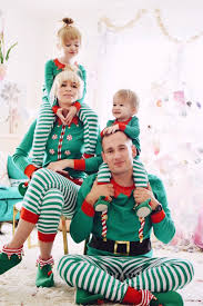 Coury Combs, her children and husband wearing the Elf Family Pajama collection Target\u0027s New Sleep Sets Are Here to Prove Holidays