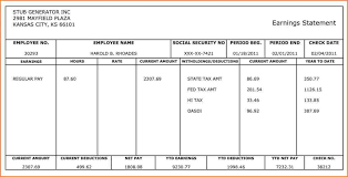 paycheck stub creator 9 canadian pay stub template cashier resumes