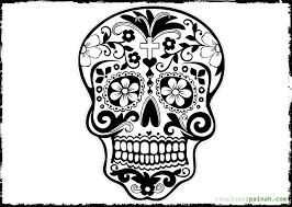 Small Picture Day Of The Dead Skull Free Coloring Pages Adult Coloring Pages