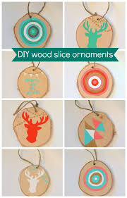 diy wood slice ornaments the sweetest digs