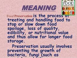 Meaning Of Food Storage