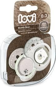 """<b>Пустышка</b> Lovi """"Buddy <b>Bear</b>"""", динамическая, от 0 до <b>3 месяцев</b>, 2 шт"""