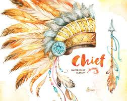 Indian Chief Dream Catcher Mesmerizing Chief Indian Headdresses Dreamcatcher And Arrow Watercolor Etsy