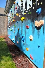 kids room outdoor kids climbs wall in backyard 20 fun climbing wall ideas for