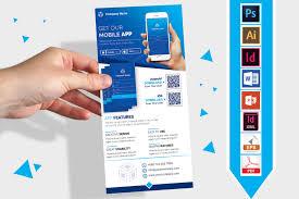 Design Flyer App Mobile App Promotion Dl Flyer Vol 03