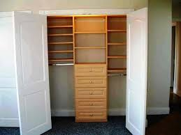 Great Small Closet Doors From Use Wooden Shelves And Drawers For Small Closet  Ideas With Glossy