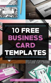 10 Free Business Cards 10 Free Business Card Templates For Bloggers Beautiful