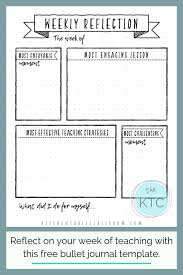 Journal Templates Reflections On Education Free Bullet Journal Templates For