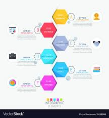 Infographic Design Layout Vertical Timeline And 6 Vector Image