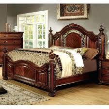 Furniture Of Traditional Brown Cherry Poster Bed Paul Bunyan Bedroom ...
