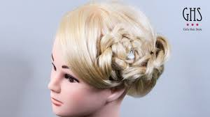 前髪あり セミロングで片編み込みアップヘアスタイル Braid Hair Youtube
