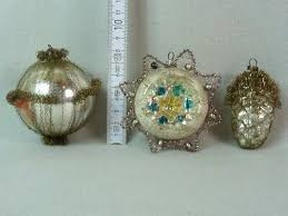 3 Teile Christbaumschmuck Mit Leonischen Drähten Silber