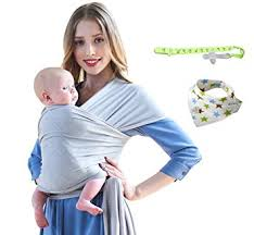 Amazon.com : Baby Wrap Carrier - Lightweight Stretchy Breathable ...