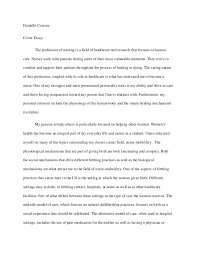 annotated bibliography and cover essay  danielle couturecover essay the profession of nursing is a field of healthcare and research that