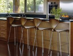 contemporary bar furniture. attractive wooden bar stools with soft curvy lines contemporary furniture w