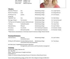 Free Acting Resume Template How To Write Theatre Resume Sample Template Google Free Acting 34