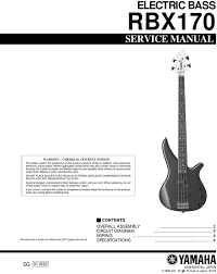 yamaha service manual archives page 24 of 40 pligg yamaha rbx170 rbx 170 rbx 170 complete service manual