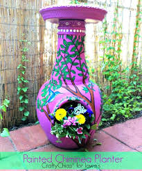large clay chiminea outdoor fireplace mexican pink tree ornament patio furniture ideas cute yellow fire pit