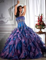 luxury blue wedding dress of blue and blue from famous disney